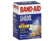 Johnson Band-Aid Brand Adhesive Bandages, Clear Strips 9SIV06W6AA0940