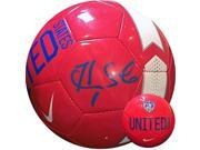 Athlon CTBL-a17749 Hope Solo Signed Nike Official Soccer Ball Blue Signatures - Olympics Team USA World Cup - Red - Size 5 9SIV06W6B57362