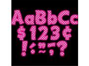Teacher Created Resources TCR5430 Hot Pink Polka Dots 4 in. Letters Pack 9SIV06W6AX6390