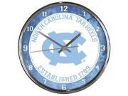 North Carolina Tar Heels Round Chrome Wall Clock 9SIV06W6AR1172