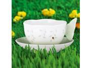 Lenox 817135 BUTTERFLY MEADOW FIG GRN CUP & SCR - Pack of 1 9SIV06W6AG4402