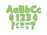 Lime Polka Dots Funtastic Font 4In Letters Combo Pack 9SIV06W6AT9660