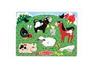 Melissa & Doug LCI3383 Farm Animals Peg Puzzle 9SIV06W6AX9500