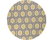 Surya Rug FAL1037-8RD Sunshine Yellow Contemporary Round Area Rug 8 ft. 9SIV06W6CE2375