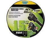 Power Zone ORV5063815 Rv Power Cord 6 By 3-8 By 1, 15 Ft. Stow 50A 9SIV06W6D01717