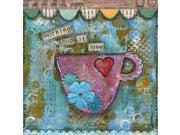 Morning Cup of Love by Denise Braun  Gallery Wrap Canvas Art printed on heavy museum grade canvas. 9SIV06W6GH8306
