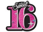 Amscan 191466 Glitter Celebrate Sweet 16 Sign - Pack of 12 9SIV06W6J48894