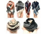 DDI 2287450 Large Blanket Scarves Wrap Assorted Color Case of 6 9SIV06W6X24782