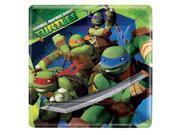 Amscan 4978996 Teenage Mutant Ninja Turtles 9 in. Square Plate - Pack of 48 9SIV06W7663286