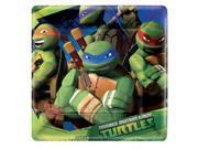 Amscan 4978997 Teenage Mutant Ninja Turtles 7 in. Square Plate - Pack of 48 9SIV06W7662598