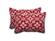 Pillow Perfect 591544 Indoor-Outdoor Aspidoras Apple Red Over-Sized Rectangular Throw Pillow - Set of 2 9SIV06W7HV8384