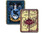 Northwest 2HPT051000005RET 48 x 60 in. Harry Potter Marauders Map with Ravenclaw Crest Woven Tapestry Throw