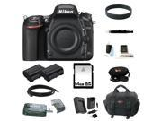 Nikon D750 FX-format Digital SLR Camera (Body Only) with 64 GB Deluxe Accessory Bundle 9SIV0742FT0220