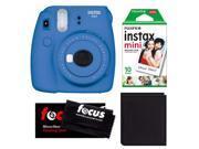 Fujifilm Instax Mini 9 (Cobalt Blue) w/ Instax Film & Photo Wallet
