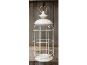 Round White Birdcage Lantern, 17x8 9SIV07Y7EZ8126