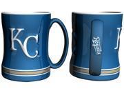 Kansas City Royals Coffee Mug - 14oz Sculpted Relief 9SIV06W7UH4033
