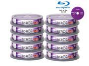 100 Smartbuy 6X BD-R DL Blu-ray Dual Layer 50GB Logo Data Video Game Record Disc 9SIV09V2YZ1490