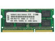 4GB MEMORY PC3-8500 1066MHz MEMORY FOR LENOVO THINKPAD 2055