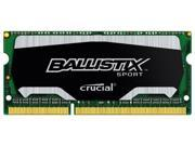 Crucial Ballistix Sport SODIMM 4GB 204-Pin DDR3 SO-DIMM 1.35V DDR3 1866MHz (PC3 14900) Laptop Memory Memory For Notebook  Model BLS4G3N18AES4