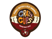 "Crazy Cups """"Peanut Butter & Jelly Sandwich"""" (22) Count Flavored Single Serve Coffee K Cups."" 9SIAD245CA1920"