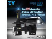 P8 Philips Chips 40W 4000lm LED Car Headlight H13 6000K LED Car Headbulb Conversion Kit - Black 9SIA3525JA2649
