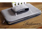 New Gray 13 Notebook laptop Sleeve Case Carry Bag Pouch Cover For MacBook Air Pro