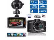1080P 2.7 Inch WiFi Car Vehicle Dashboard Camera Video Recorder DVR Cam Camcorder G sensor Motion Detection Night Vision