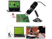 Mini USB 8 LED 50X-500X 2MP Digital Microscope Endoscope Magnifier Video Camera