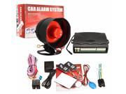 One Way Car Vehicle Alarm Protection Security System Keyless Entry Siren + 2 Remote Control