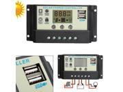 20A MPPT Solar Panel Regulator Battery Charger Controller 12 24V Auto PWM LED