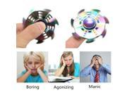 2X Special Gear Rainbow Fidget EDC Hand Spinner Torqbar ADHD Autism Finger Toy Kill time