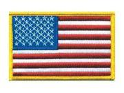HEROS PRIDE 0021 Embroidered Patch, U.S. Flag, Medium Gold 9SIA5D52R89673