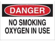 BRADY 25086 Danger No Smoking Sign, 7 x 10In, ENG, Text