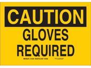 BRADY 122841 Caution Sign, 7 x 10In, White on Brown