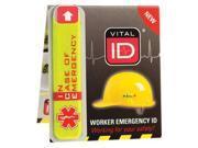 VITAL ID WSID-01 Hard Hat I.D., No Data Window, Vinyl, PK100