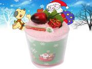 Sweet Cake Style Towel Decorative Face Facial Handkerchief Christmas Gift with Clear Plastic Cup (Pink) 9SIV0J73J54446
