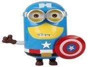 Cartoon PVC Action Figure Toys Despicable Me American Captain Version Minions Model 9SIV0J73JT3731
