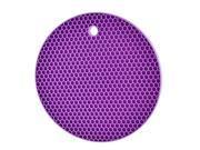 Household Hot Pot Pan Rubber Nonslip Heat Insulated Mat Pad Coaster Purple 9SIV0KK4T83775