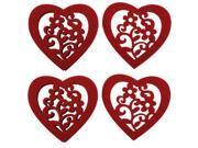 Home Office Felt Heart Shape Cup Heat Insulation Resistant Mat Pad Coasters 4pcs 9SIV0KK4T85312