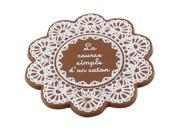 Brown Floral Shaped Silicone Cup Bottle Mug Glass Coaster Mat Pad 9SIV0KK4T88922