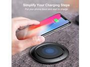 Wireless Charger,  Ultra Slim Qi Fast Wireless Charging Pad for Samsung Galaxy Note 8 S8 Plus S8 S7 S7 Edge Note 5 and Standard Charge for iPhone X /iPhone 8 /