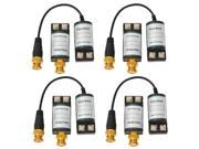 VideoSecu 4 Pairs of Mini Passive CCTV BNC Video Balun Security Camera Network Transceiver CAT5 Connections M46 9SIV0T65VY0642