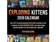 2019 Exploding Kittens Wall Calendar, Cartoons / Comics by Andrews McMeel Publis