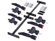 4 Retractable Universal Golf Cart Seat Belts and Bracket Kit for TXT&RXV of EZGO Yamaha Club Car 9SIV0YY5D45978