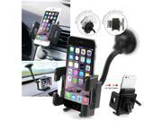 Insten Car Phone Holder Swivel Windshield Suction Cup Stand Air Vent Mount Holder For Mobile Phone MP4 GPS Devices 9SIADT86JB3166