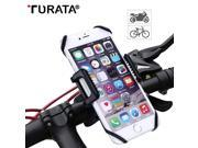 Turata Universal Bicycle Bike Mobile Phone Holder Motorcycle Handlebar Clip Stand Mount Bracket For iPhone Samsung Sony GPS Case 9SIV10D6JA8717
