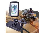 Motorcycle Phone Holder Mount Phone Stand Support for iPhone7 5S 6 Plus GPS Bike Holder with Waterproof Bag soporte movil moto 9SIADT86JB5325