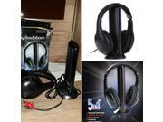 Marsnaska Brand  & High Quality 5 in 1 Wireless Headphones Watch Tv Earphone Cordless Headset for MP3 PC Stereo TV FM iPod 9SIV10D6M42382
