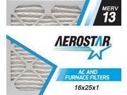 16x25x1 AC and Furnace Air Filter by Aerostar - MERV 13, Box of 12 9SIV10J5UD1367