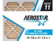 19 7/8 x 21 1/2 x 1 Carrier Replacement Filter by Aerostar - MERV 11, Box of 12 9SIV10J5UD1375